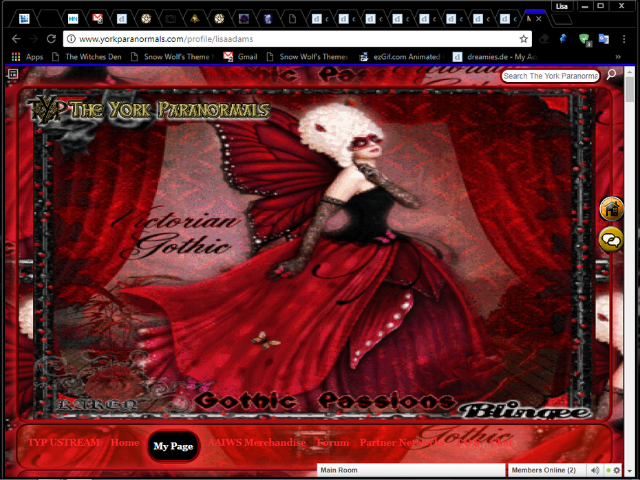 victorian gothic passions ning theme by snow wolf