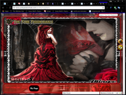 red witch roses ning theme by snow wolf