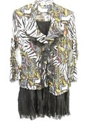 Dressy Blouse And Silk Sequined Skirt By La Cavier