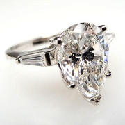 GIA 3 CARAT VS G PEAR CUT DIAMOND ENGAGEMENT RING PLATINUM
