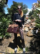 Bea Conesa with Marrakech Bag in a sunday casual arabic chic style look