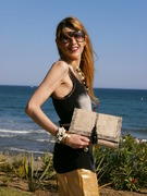 I love the sunset, better by the Mediterranean Sea with my Zorah Bag, Arabic Chic Style by Jammsa, so lovely¡¡
