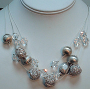 Sterling Silver andSwarovski crystal necklace