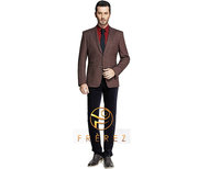 Wholesale Brawny Brown and Black Mens Suits - Frerez