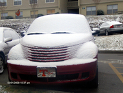 Cruiser wearing a blanket of snow
