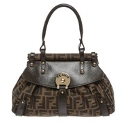 Fendi Brown Black Zucca Handbag