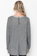 Shop for Black Raw Edge Zipper Tunic Online Final Sale on -caralase