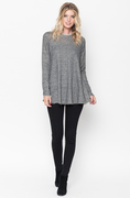 Shop for Black Raw Edge Zipper Tunic Online Final Sale on $caralase