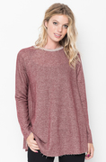 Shop for Burgundy Raw Edge Zipper Tunic Online Final Sale on #caralase