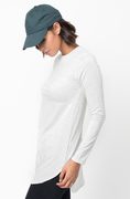 Shop for Light Grey Crew Neck Terry Long Sleeved Tunic New Colors on @caralase