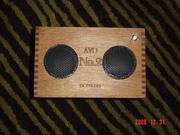 Cigar Box Amp Twin Speakers