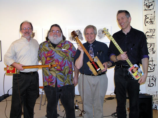The Jack Murphy's Cigar Box Guitars Ensemble