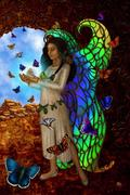 Butterfly Maiden - American Indian Goddess