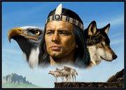 indio aguia lobo