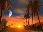 Deserto com lua.