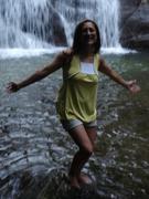 Eu na Cachoeira em Parati