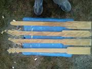 4 cigar box guitar necks freshly cut
