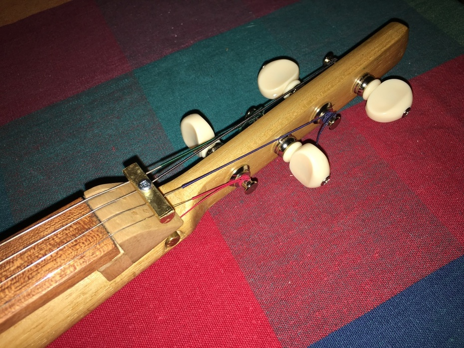 Cigar Box Violin tuner detail - Cigar Box Nation