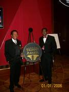 TRUMPET AWARDS With CEO of TVOne Jonathan Rodgers