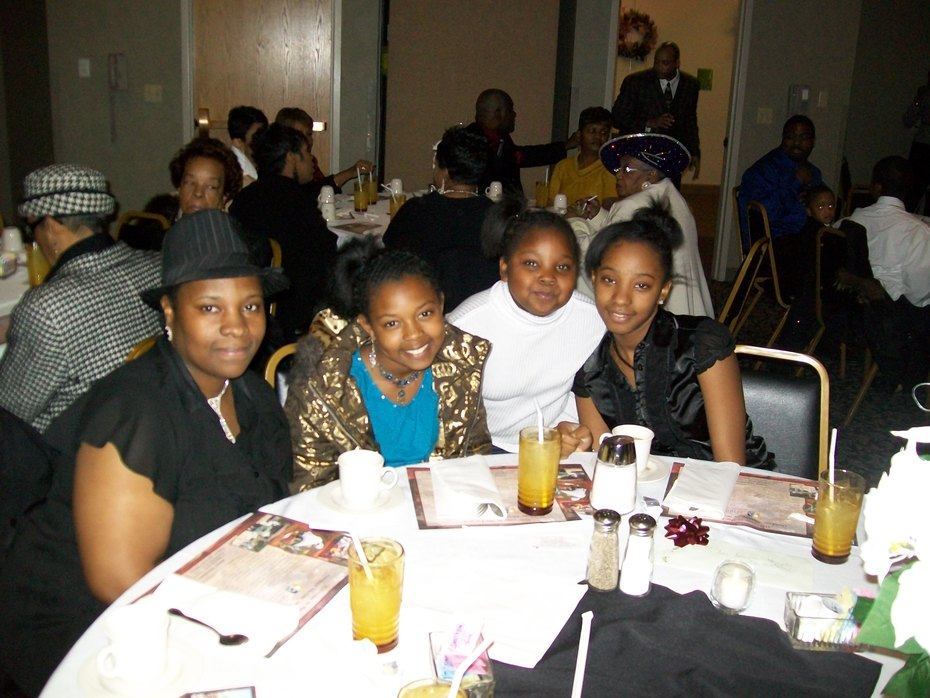 My wife and daughters @ M.O.M Praise Dance Banquet