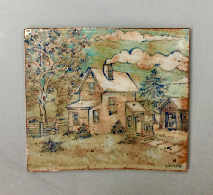 Tile with landscape