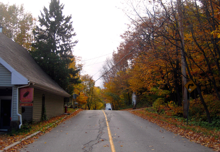 rural road in quebec