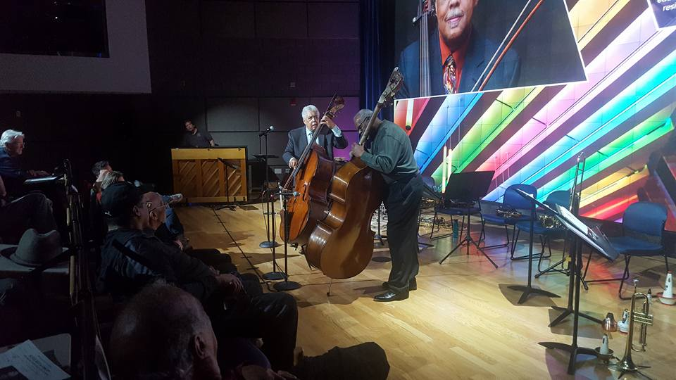 Rufus Reid with Jazz Alive VP Jim Anderson
