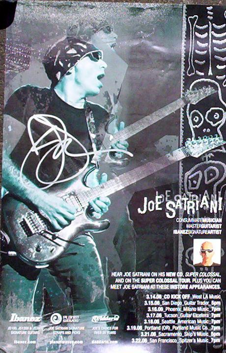 Joe Satriani Signed  Poster
