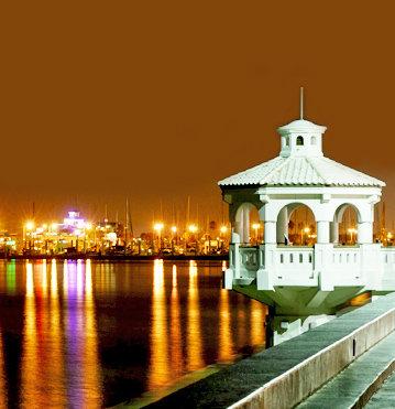 Corpus Christi -gazebo night