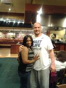 Steelers linebacker James Farrior and Me at Kabuki Japense Steak House