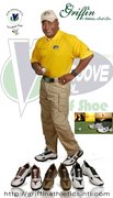 Anthony L Griffin with the new VGT Golf Shoe