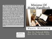 Minister Of Music Handbook