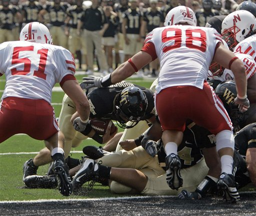Wake Forest tries to score against Huskers Blackshirts