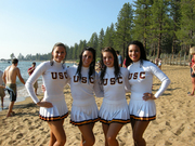 USC Cheerleaders Swim in Lake Tahoe