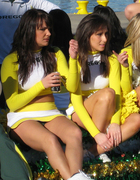 Two Brunette Oregon Cheerleaders