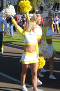 Blond Oregon Cheerleader