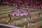 Huskers Football - End of game huddle