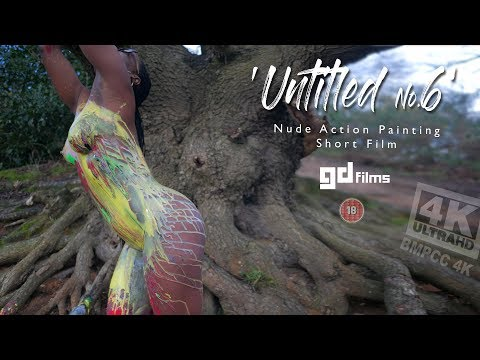 6 Nude Art Ebony Action Body Painting 'Untitled No.6' • GD Films • BMPCC 4K Deep House