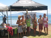 Mack takes 3rd Longboard at the surf contest