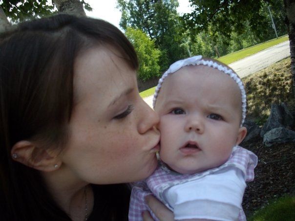 KAYLA [MOMMY] MY GRANDDAUGHTER WITH MY GRT. GRANDDAUGHTER CHLOE - 4 MO