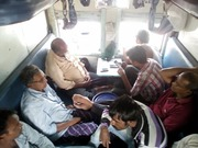 we r in train to Nepal