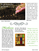 OM Times March 1/2 2012 : SOW What?  Survival Seeds to Sow (pg3)