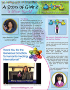 OM Times Sept 2011 - A Story of Giving : la Ninas World