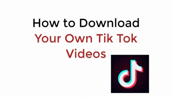 how to download tik tok videos without watermark?
