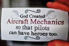 God made aircraft mechanics