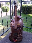 The Stogie Blaze Guitar full view note head stock
