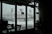 Snowed in, at least the coffee is on this side of the door!