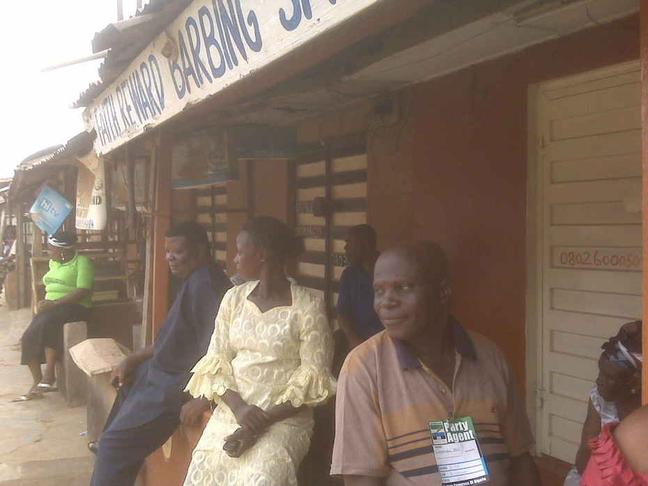 Voters waiting to cast their votes after accreditation