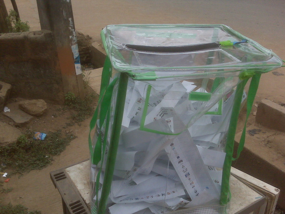 Ballot box LA 03 050 044 in Egbe / Agodo