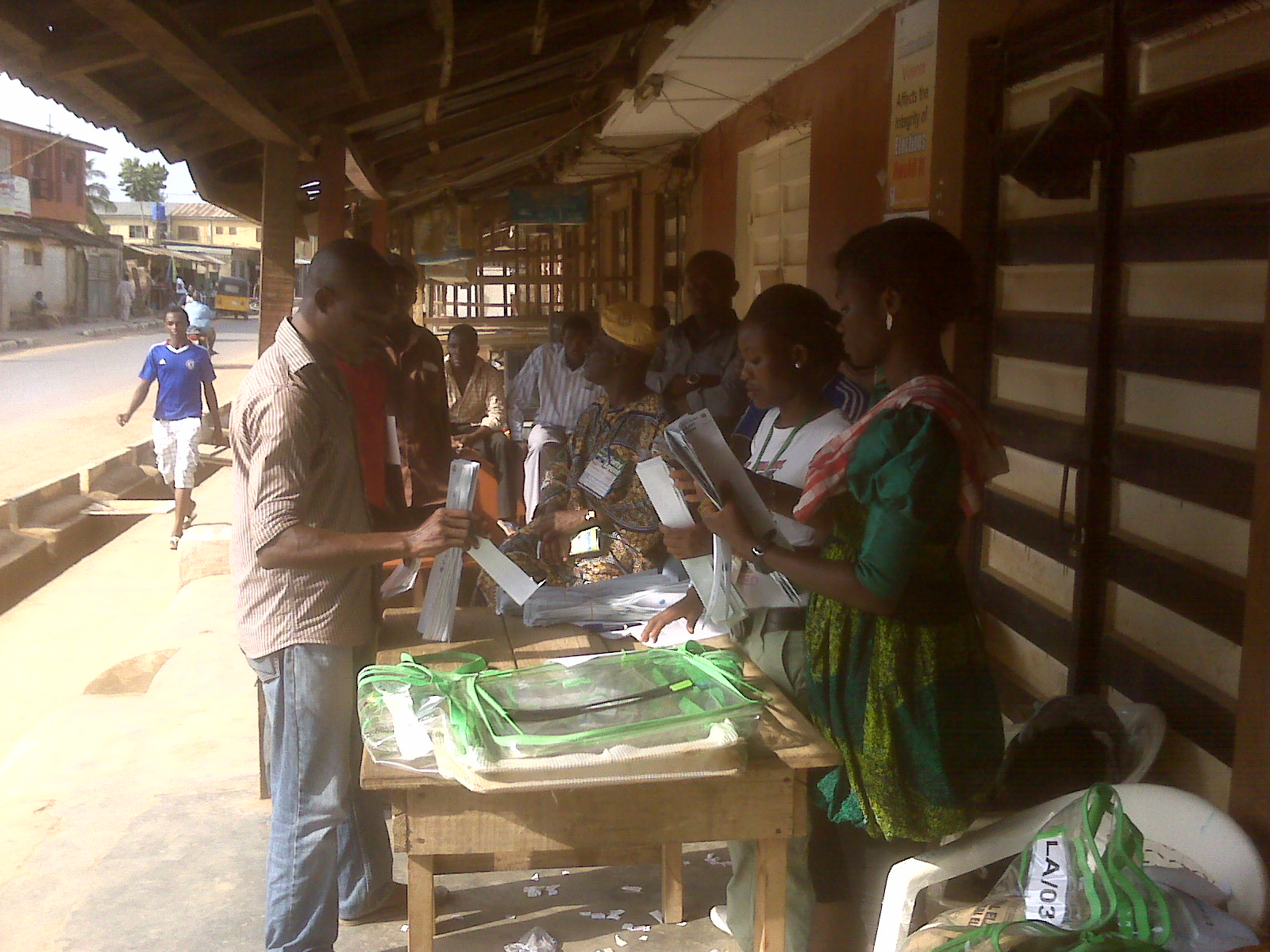 Election officers at work